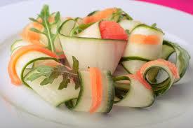 salade de concombre au saumon fumé