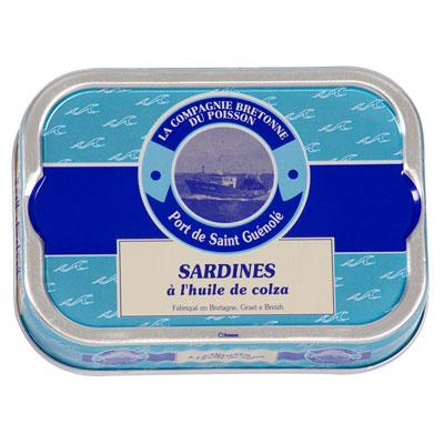 Sardines à l'huile de colza La Compagnie Bretonne du poisson, Prix/100g : 3.13 €